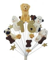 Dogs 16th birthday cake topper decoration - free postage